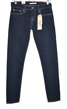 Womens Levi's 601 PIN SKINNY Low Rise Dark Blue Stretch Jeans Size 10 W28 32 NEW