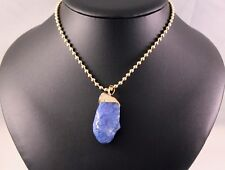 Blue Natural Gemstone Pendant Necklace w/Free Jewelry Box/Shipping