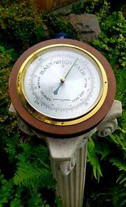 Vintage Large Negretti & Zambra Aneroid Barometer 10 inch / 25.5cm Diameter