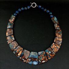 19'' Mixed Color Sea Sediment Imperial Jasper GraduatedNecklace