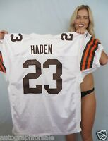 Joe Haden signed autographed Browns authentic 2010 ROOKIE Reebok game jersey COA