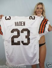 Joe Haden signed auto Cleveland Browns authentic 2010 ROOKIE Reebok game jersey