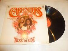 THE CARPENTERS - Ticket To Ride - 1978 UK 13-track compilation vinyl LP