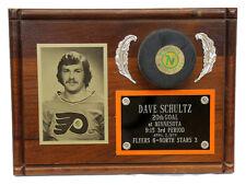 Philadelphia Flyers Dave The Hammer Schultz Plaque 20th Goal 1974 Season