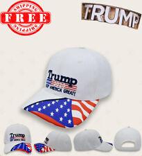 Donald Trump 2020 MAGA Camo Embroidered Hat Keep Make America Great White Cap