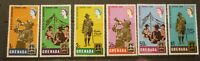 OLD BOY SCOUT GIRL GUIDE STAMP COLLECTION, GRENADA SET OF 6 IDAHO JAMBOREE MINT