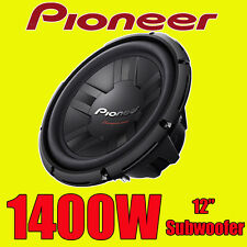 "PIONEER 12 "" 1400W di Potenza Car Audio BASS SUB SUBWOOFER 4 OHM NUOVISSIMO WOOFER"