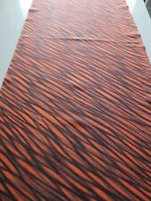 Vintage Kimono Quilt Fabric Silk Orange Black Line Classic Style 81cm D21