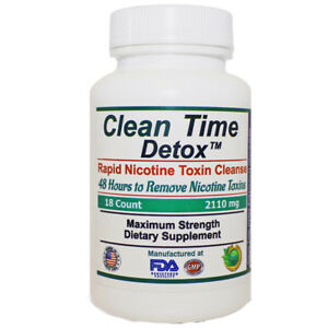 Nicotine Toxin Remover, Rapid Cleanse Formula, CleanTime 18 Tablet Count