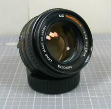 Minolta MD Rokkor-X 50mm f1.4 Manual Focus Lens  AS IS Please Read