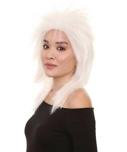 80's Adult Women White Rocker Style Wig  HW-954