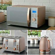 Sparkling Rose Gold Kettle, 4 Slice Toaster & Microwave kitchen and Set. 😍😍
