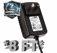 """[UL] 8FT AC/DC Power Adapter for Digital Labs 7"""" TFT LCD TV DT191SA EDTV"""