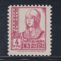 ESPAÑA (1937) NUEVO SIN FIJASELLOS MNH SPAIN - EDIFIL 829 (4 pts) ISABEL