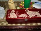 Clumber Spaniel hand carved and signed wine box