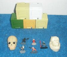 Star Wars Micro Machines 2 Mini Heads & 7 Figures! 1:72 Lot with 5 block busters