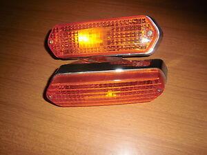 Alfa Romeo Montreal Pair Lights Indicators Front Towing Original