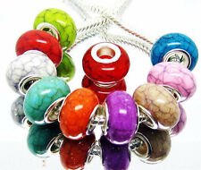 100 mixed Resin Imitate Turquoise Charm BeadS US SELLER = FAST DELIVERY & FREE