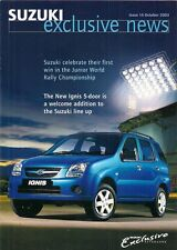 Suzuki Exclusive News Magazine No 14 October 2003 UK Brochure Ignis Grand Vitara