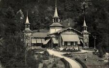 1912 Stempel SPIEZ auf Postkarte von Thun Schweiz Partie am Kursaal Park Anlagen