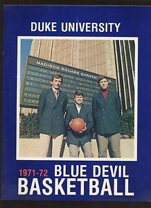 1971/1972 NCAA Basketball Duke Yearbook EXMT+
