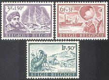 Belgium 1966 Antarctic/Ships/Dogs/Balloon 3v set n25862