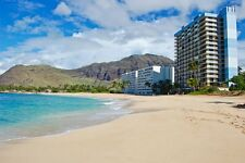 Oahu Hawaii Beach Front 1 Bdm 7 Nt Resort Rental Jan 13-20 Sleeps 4 Full Kitchen