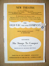 NEW THEATRE PROGRAMME 1949- SHE STOOPS TO CONQUER by Oliver Goldsmith