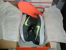 Nike LunarEpic Flyknit Mid Black/Ghost Green Running Shoes Sz 12 818676 015 NEW