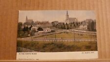 """Postcard posted Canada, Ontario, St Mary's, """"in the north ward"""""""