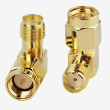 SMA Male to SMA Female Plug, 90° Right Angle RF Coax Jack Adapter Connector