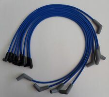 BBC CHEVY 396-427-454-502 HEI BLUE 8mm Spiral Core SPARK PLUG WIRE 45 DEGREE END