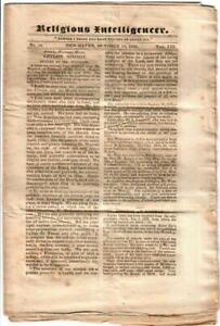 Newspaper Religious Intelligence 1823 Vol. VIII (Noah Shelton/ Jewish Russia)