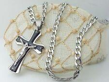 Collana Ciondolo Croce Crocifisso con cristo Argento Unisex I Gioielli di Vicky