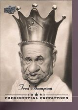FRED THOMPSON & BABE RUTH 2008 UD UPPER DECK PRESIDENTIAL PREDICTOR SP