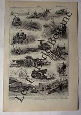 Document Ancienne planche Motoculture tracteur charrue gravures  1922