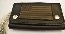 Oldschool USA Wallet Chain Geldbörse Flagg Kette Naked Leather Rockabilly neu