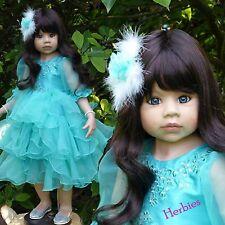 "Masterpiece Dolls Jasmine Brunette, Blue Eyes by Monika Leveni, 39"" Vinyl"