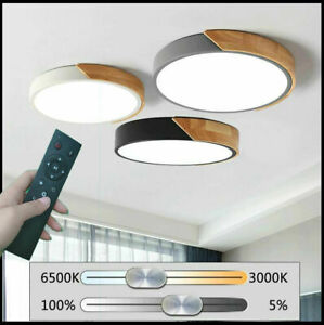 Modern Wooden 40W LED Ceiling Lights Pendant Bedroom Lights Chandeliers