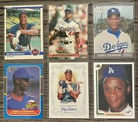 ⚾️Darryl Strawberry 6-CARD LOT including beautiful ROOKIE 1984 Fleer #599