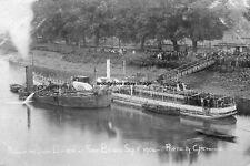rp14670 - Wreck of Ferry - Queen Elizabeth at Kew Bridge 1904 - photograph