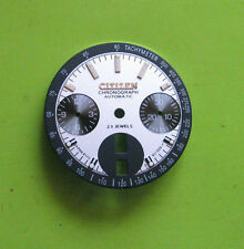 = New DIAL made for CITIZEN 8110 Chronograph SILVER-white Automatic