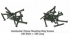Humbucker Pickup Mounting Ring Screws 100 Long, 100 Short Black For USA Gibson