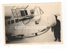 Original Foto deutsches Flugzeug Lastensegler DFS in Wintertarnung  2.WK (A)