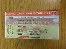 31/12/2005 BIGLIETTO: Leyton Orient V Notts County [PRESS Box]. bobfrankandelvis T