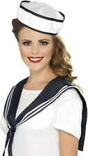 Sailor Set Hat & Scarf Adult Costume Navy Fancy Dress Ladies Mens Uniform
