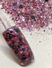 glitter mix acrylic gel nail art    HAVANNA