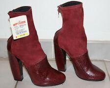 Pierre Hardy Burgundy Snakeskin / Stretch Suede Ankle Boots sz 6  / IT 6.5 $1590