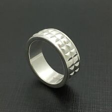 Tiffany Ribbed Studded Men's Unisex Ring Size 8.5