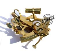 Antique Solid Navy Gifts Old-London Marina Tool Sextant Shiny Brass Christmas.